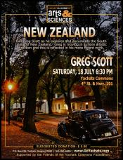 Greg Scott, New Zealand, July 18, 6:30pm