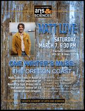 Matt Love, One Writer's Muse, March 7, 2015