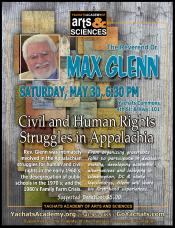 Max Glenn, Civil and Human Rights Struggles in Appalachia, May 30, 6:30pm